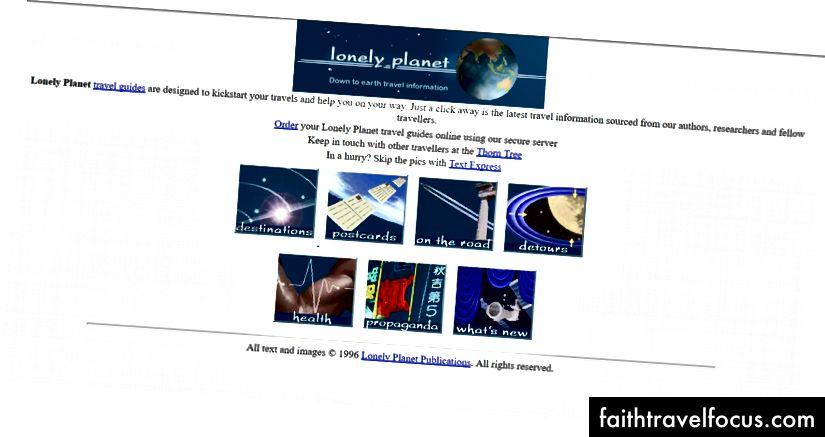 Trang chủ đầu tiên của lonelyplanet.com