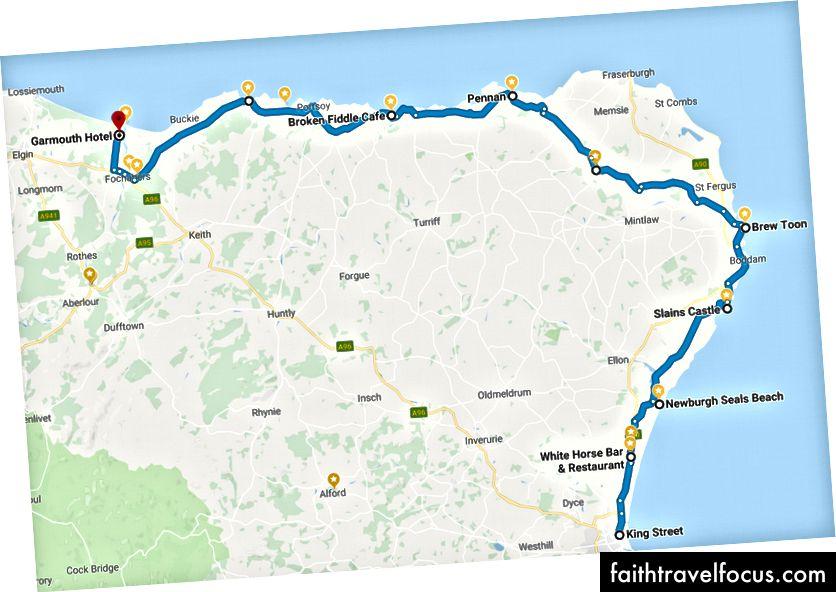 Ngày 1 - Aberdeen đến Garmouth