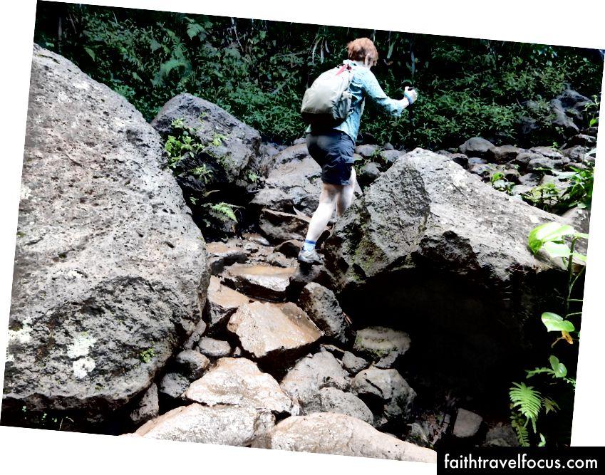 Hiking trail Na'pali Kauai của (1st 2 dặm) là đủ mạo hiểm đối với tôi!