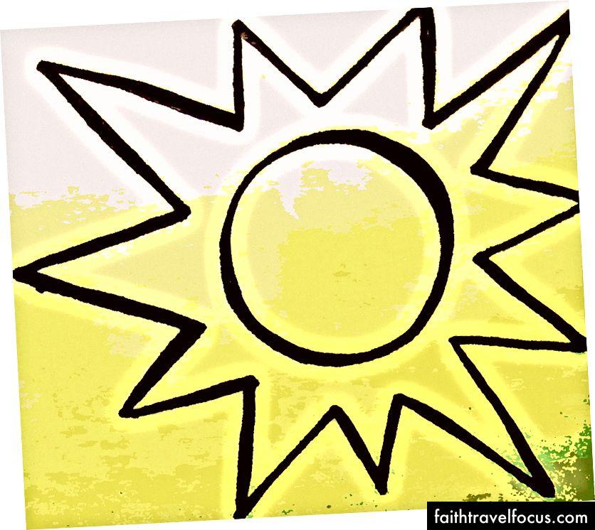 Шарпі малювання / редагування фотографій зображення сонця, створені в Південному Судані, 2013 - зображення від Lindsay Linegar