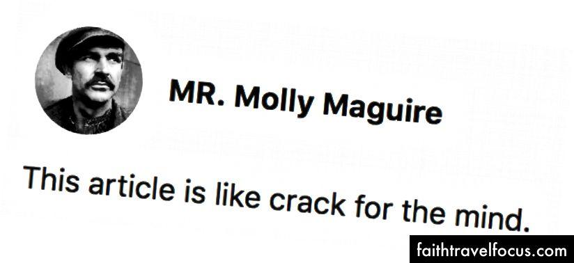Дивовижний коментар MR. Молі Магуайр