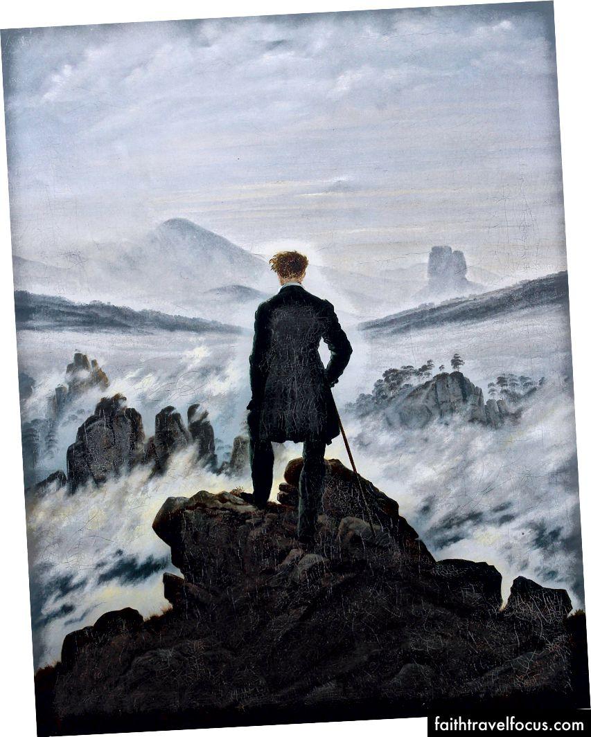 Caspar David Friedrich tarafından Sis Denizi üzerinde Wanderer