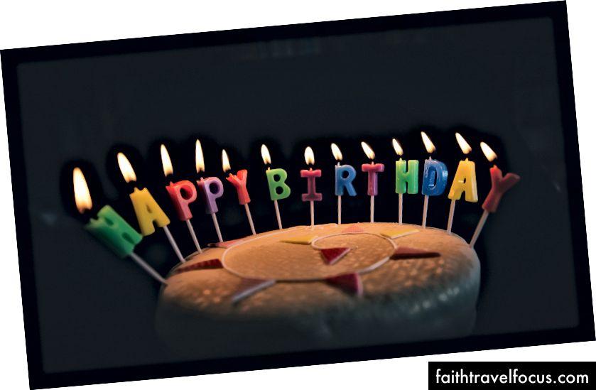 """""""Doğum Günün Kutlu Olsun Büyüyen Mumlu Doğum Günü Pastası"""" Annie Spratt tarafından Unsplash'ta"""