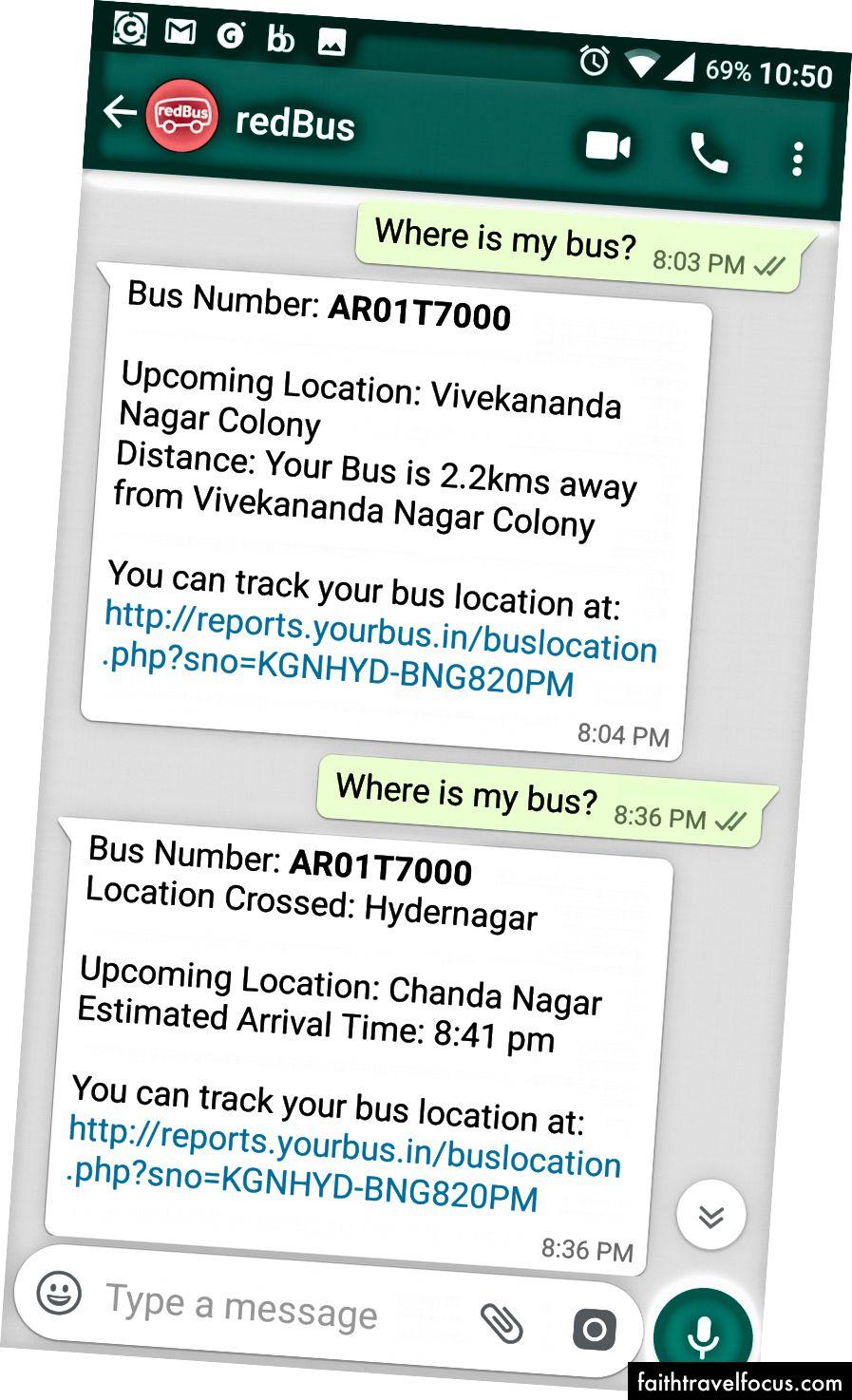WhatsApp Bot Otobüs Konum Durumuna Cevap Verme