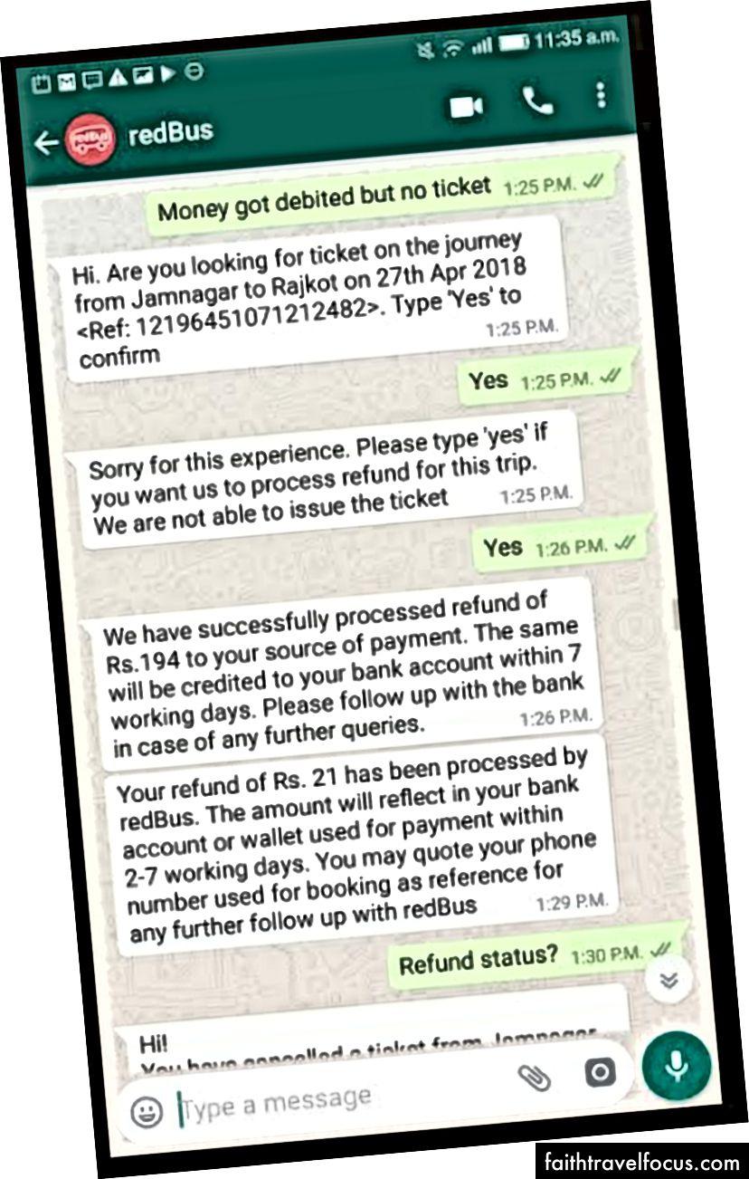 WhatsApp Bot, Kullanıcının Bilet Sorunu Konusunda Sorgusuna Yanıt Verme