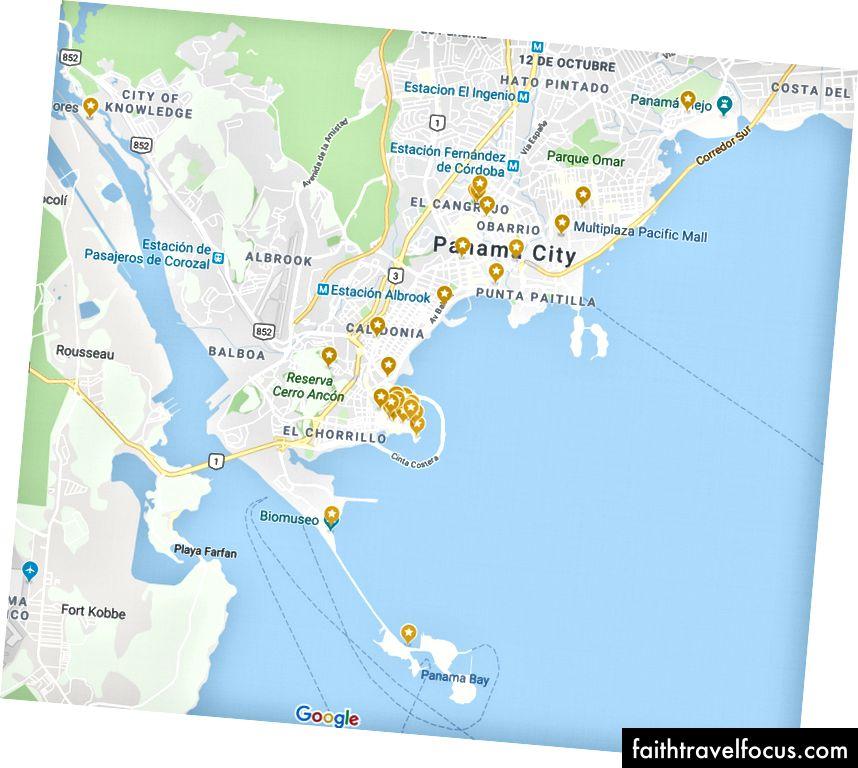 Bản đồ du lịch thành phố Panama - Google Maps
