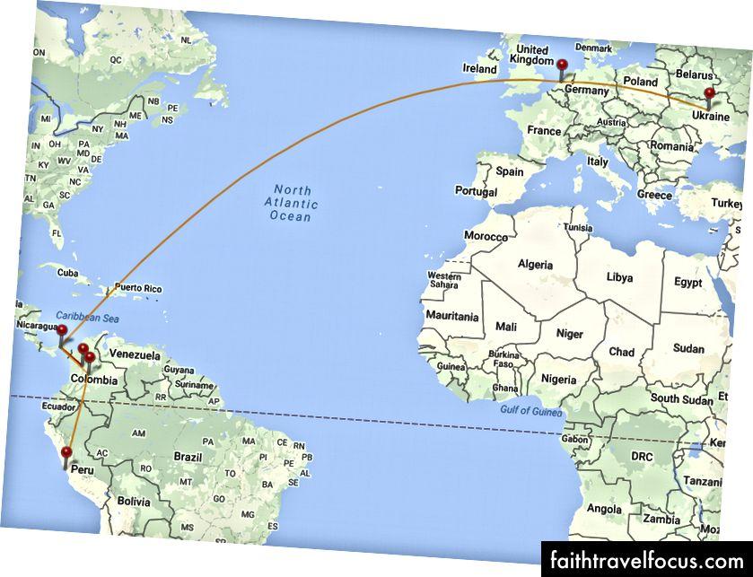 Kyiv - Amsterdam - Panama - Medellín - Panama - Bogota - Lima