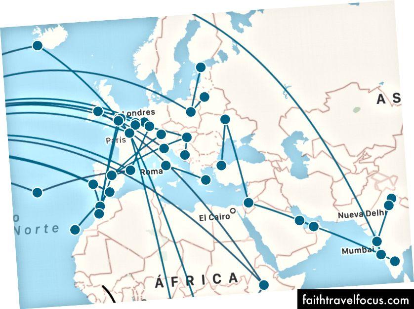 Європа літає до досягнення Бангалору. Деякі з цих рейсів є з попередніх поїздок або з більш пізніх поїздок. Також варто відзначити, ми велику частину наших подорожей автобусом… уявіть карту!