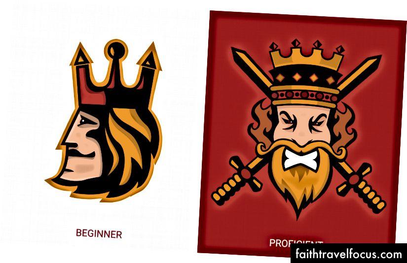 Đây là một vài tháng tiến triển của logo linh vật khi tôi phát triển như một nhà thiết kế