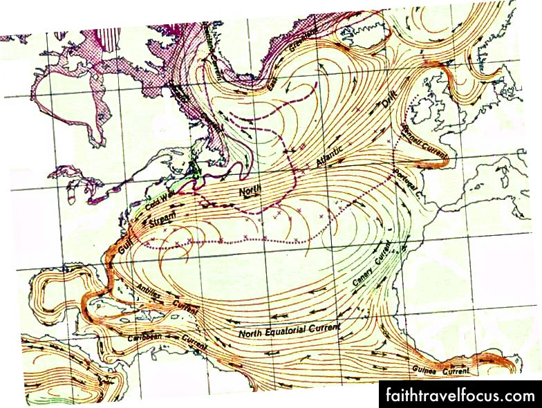 Bắc Đại Tây Dương, một dòng xoáy xoáy theo chiều kim đồng hồ của dòng hải lưu ở Bắc Đại Tây Dương.