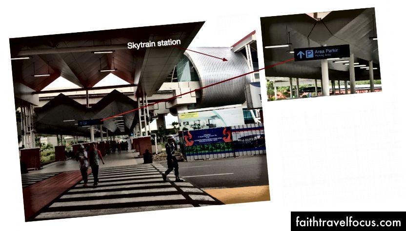 За межами терміналу прибуття, відсутність накладної залізниці