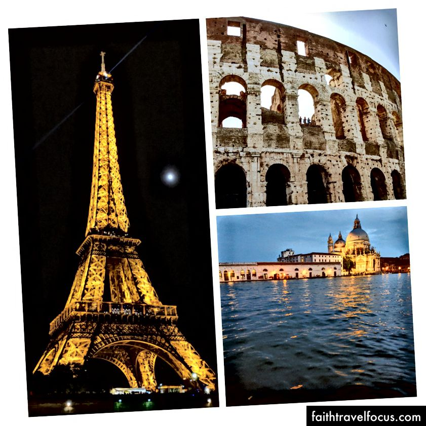 Rome, Venice và Paris