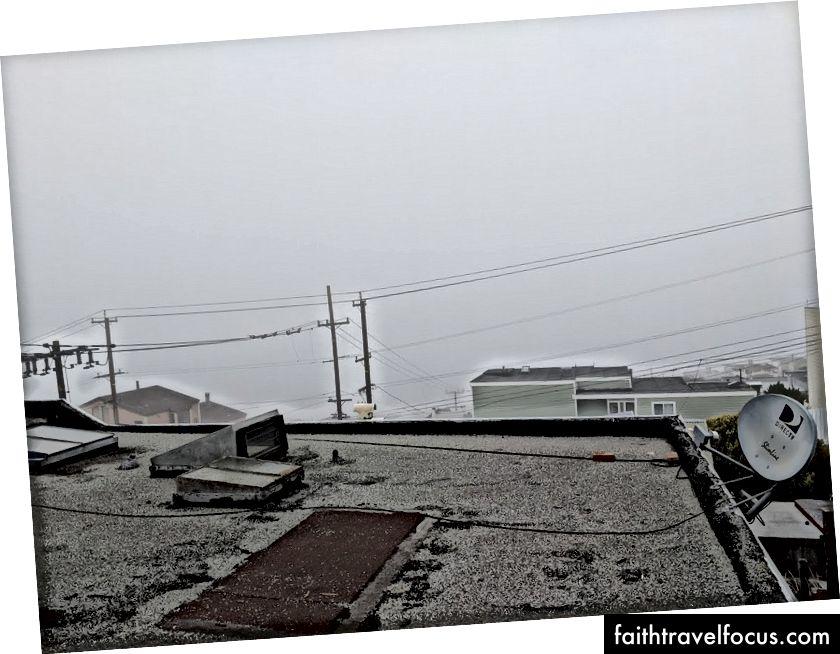 Зліва направо: станція MUNI Ван-Несса, молоко (вул. Сарджент), більше молока (вид з нашого місця Airbnb)