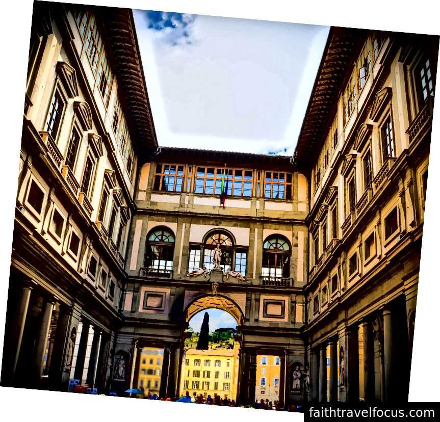 Phòng trưng bày Uffizi ở trung tâm Florence. Ảnh: Mariamichelle trên Pixabay