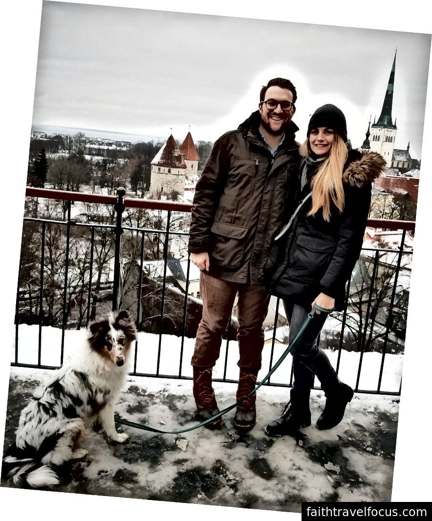 Alex Wellmann chuyển từ Washington đến Tallinn và đưa vợ Kayla Lahti đi cùng - cô ấy tiếp tục làm việc cho một công ty Mỹ từ xa. Cặp vợ chồng đã ổn định nơi ở quê hương mới và thậm chí lấy một con chó! Ảnh tín dụng: Alex Wellmann.