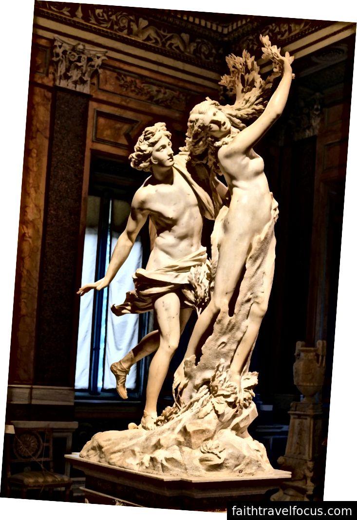 Apollo và Daphne, bởi Bernini. Hình ảnh Wikimedia Commons của Architas, CC-BY-SA 4.0