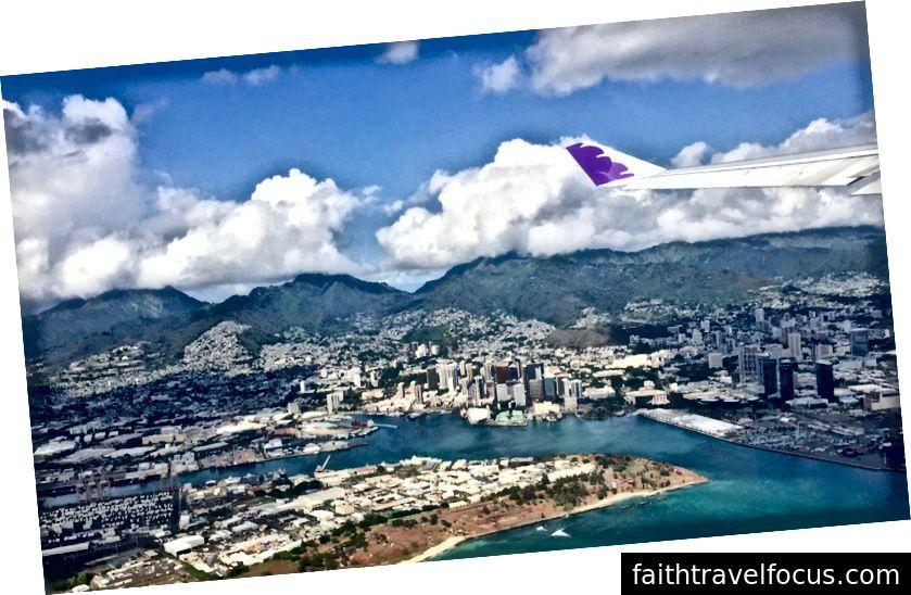 Honolulu'dan ayrılıyorum.