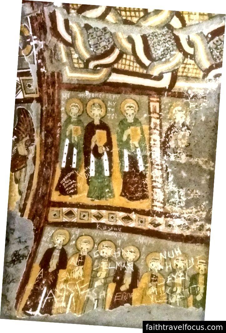 Bức tranh Christian bị phá hoại ở Thung lũng Ihlara