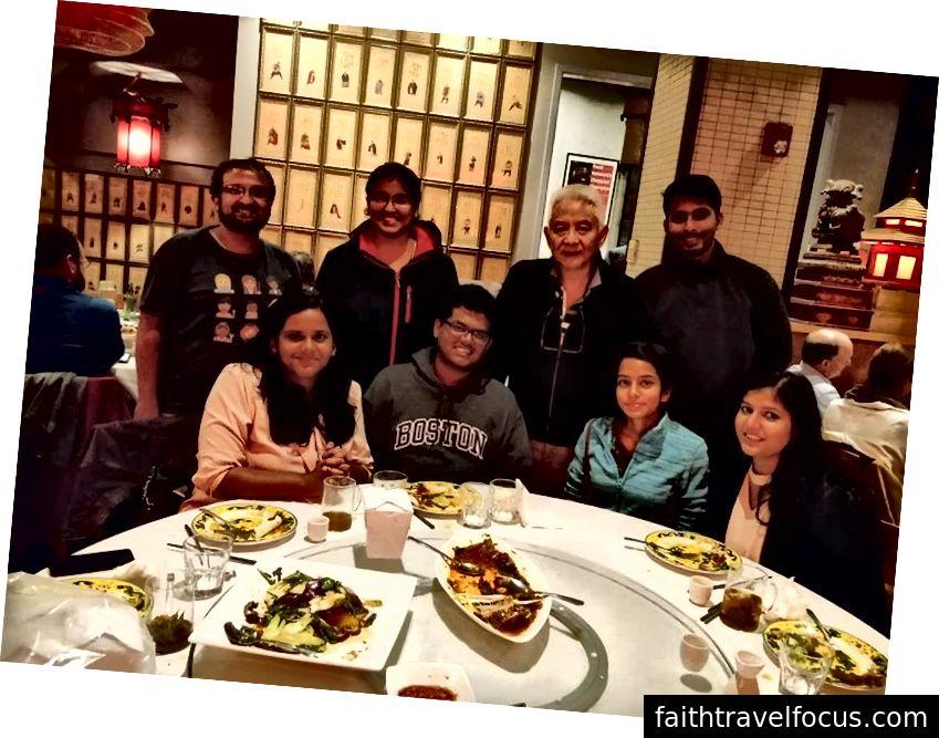 Fang Restaurant'ta Akşam Yemeği, Şef Kathy Fang'ın babasıyla