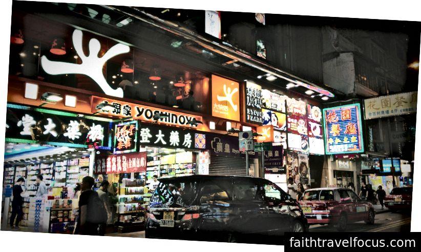Khám phá quận ánh sáng Hồng Kông trong đêm đầu tiên của tôi
