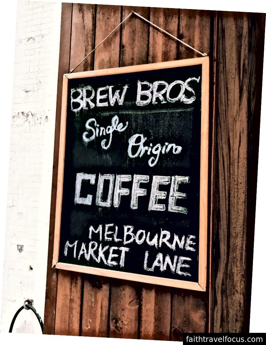 Hạt cà phê của họ là từ Melbourne Market Lane.