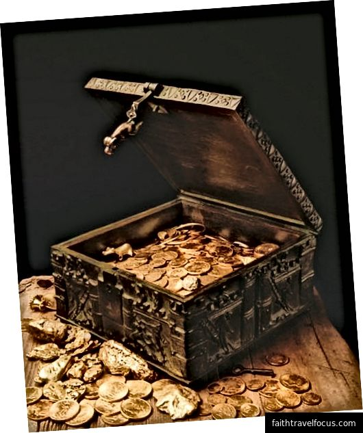 Fenn'in hazineyi tutan kilit kutusu