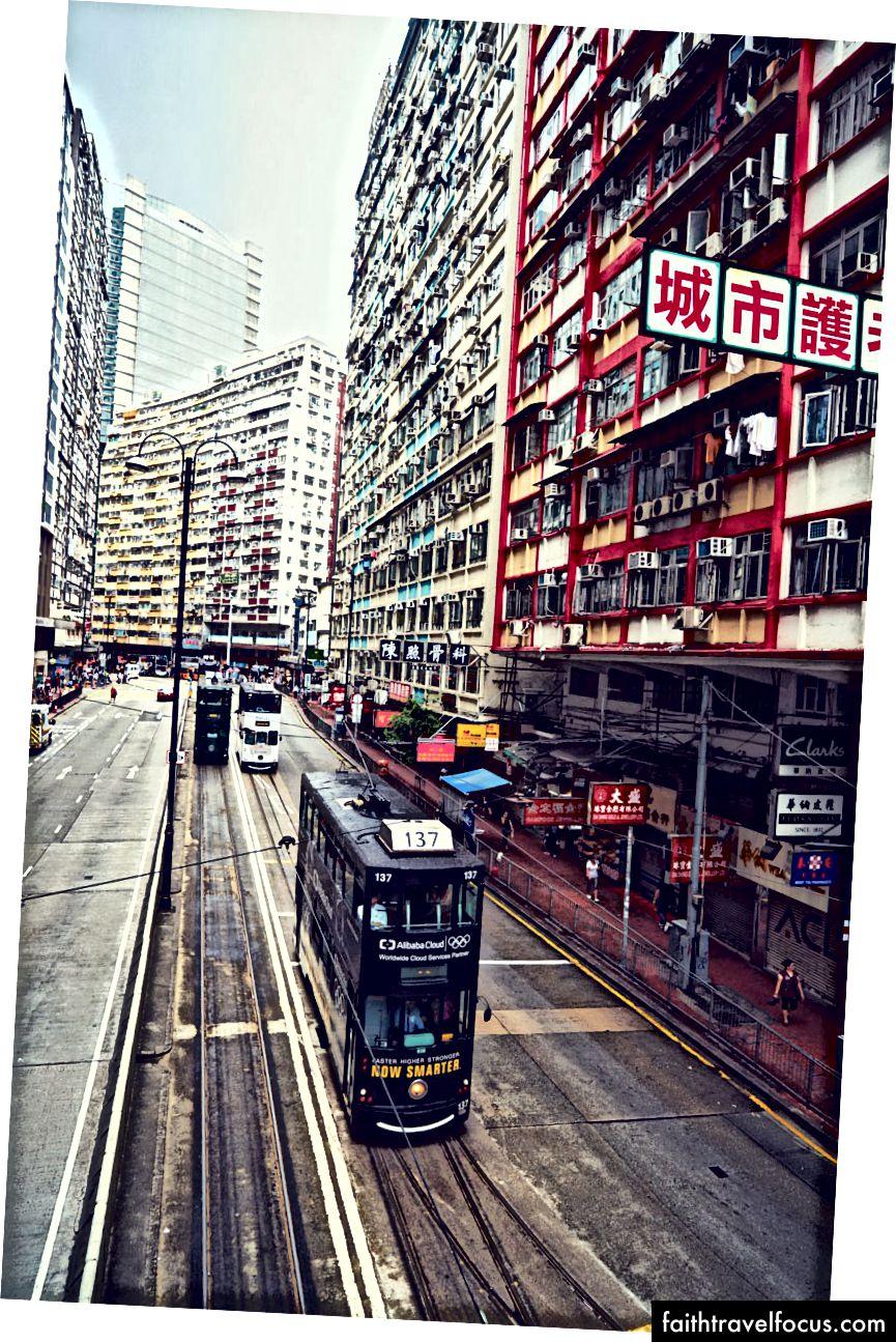 Nhìn ra đường King, một động mạch lớn của thành phố.