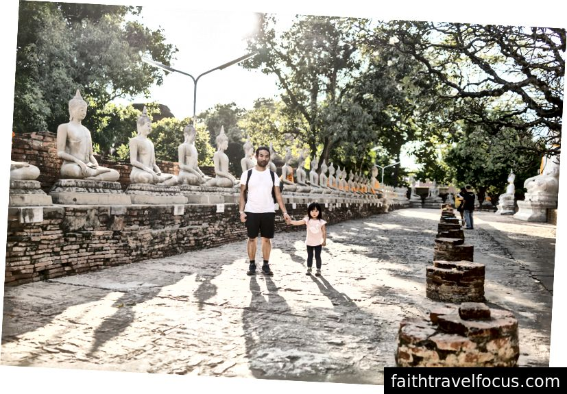 Tôi với Tiểu Chow. Ayutthaya, Thái Lan