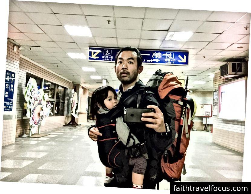 Little Chow và tôi trong chuyến phiêu lưu solo Đài Loan đầu tiên của chúng tôi cùng nhau.