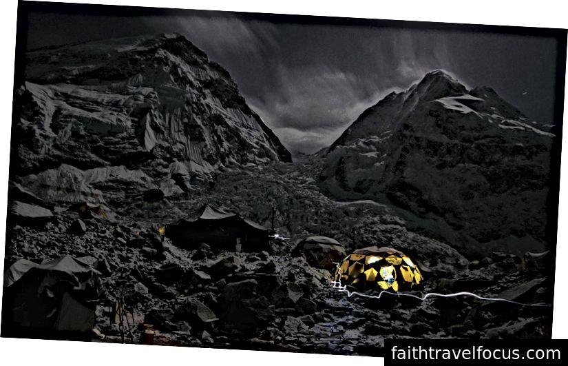 Trại căn cứ Everest. Tôi lấy cái này vào năm 2005.