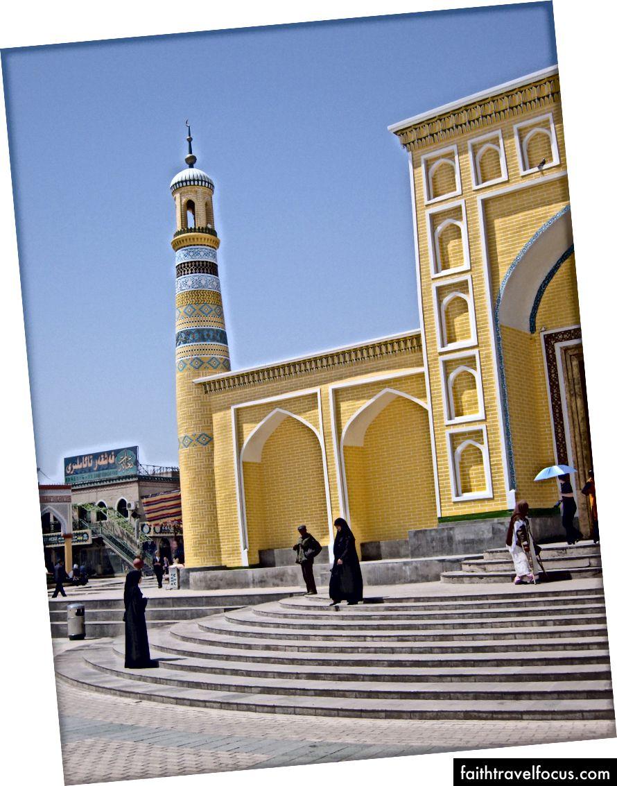 Lối vào nhà thờ Hồi giáo Id Kah. Tháng 7 năm 2008 (Hình ảnh - Tác giả. Bảo lưu mọi quyền)