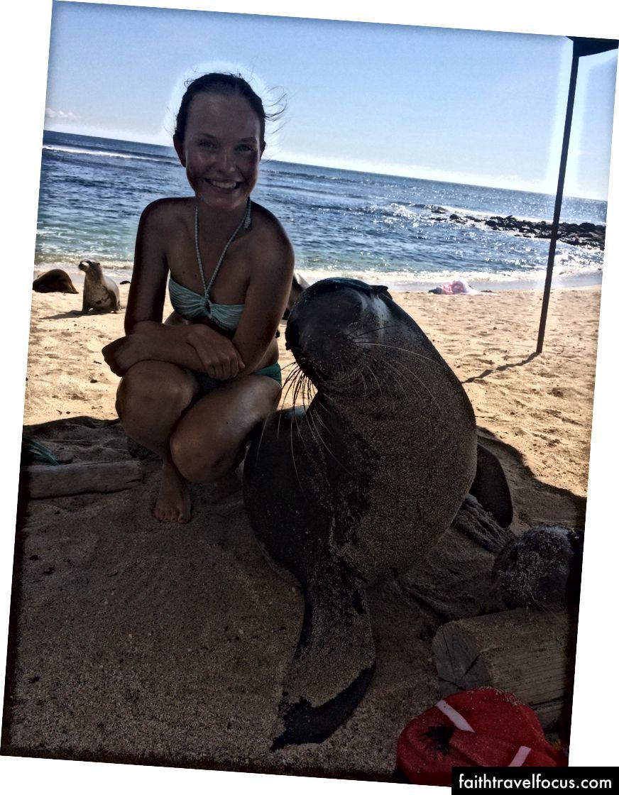 Người bạn thân nhất của tôi ở Quần đảo Galapagos, San Cristobal.