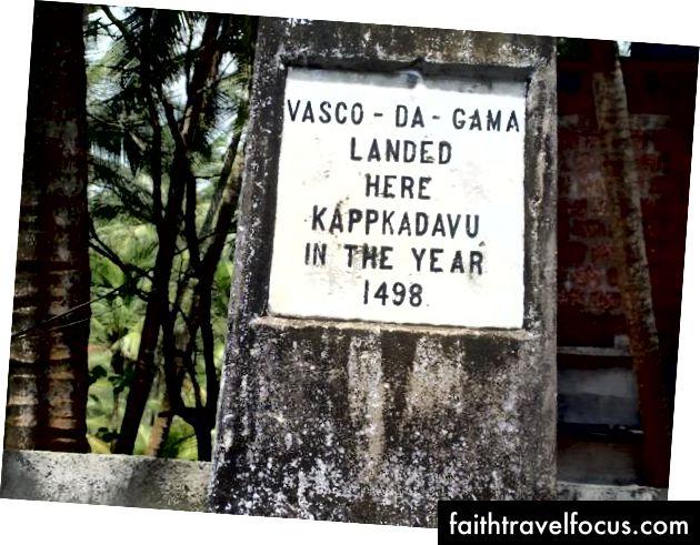 Kappad'deki Vasco Da Gama Anıtı