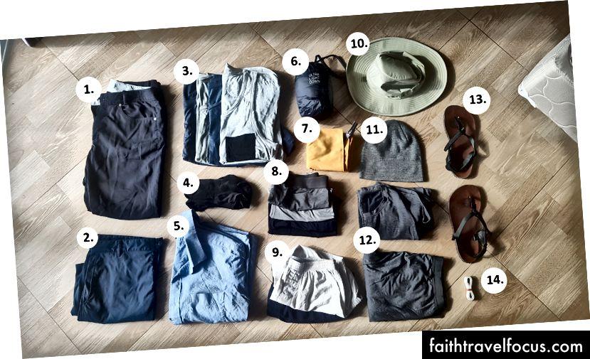Tất cả quần áo của tôi để hỗ trợ cả khí hậu nóng và lạnh