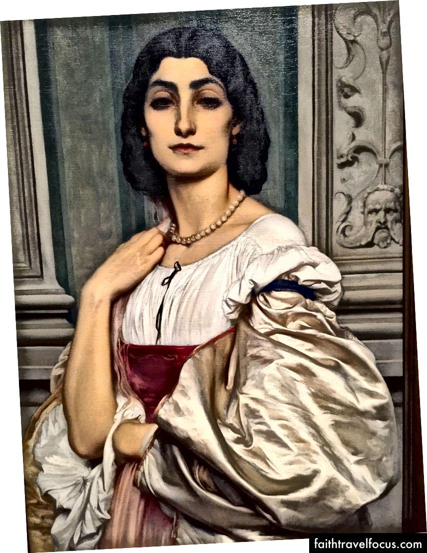 Sör Frederic Leighton-Romalı Kadın Portresi