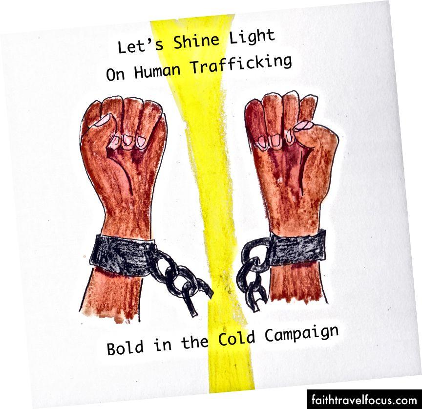 Ngày đầu tiên tôi vẽ tranh về sự táo bạo trong Chiến dịch lạnh cho IJM (Sứ mệnh công lý quốc tế)