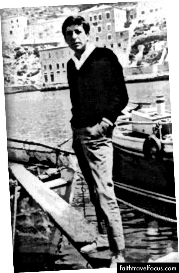 Leonard Cohen tại Hydra, 1964