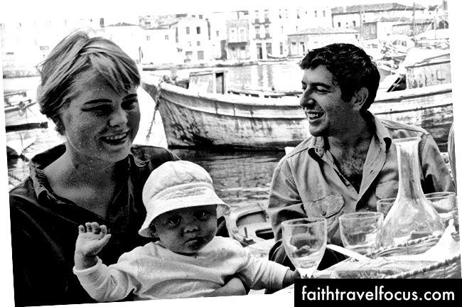 Cohen và Marianne vào tháng 10 năm 1960, bởi James Burke, nhiếp ảnh gia của Tạp chí LIFE. © Tạp chí LIFE.