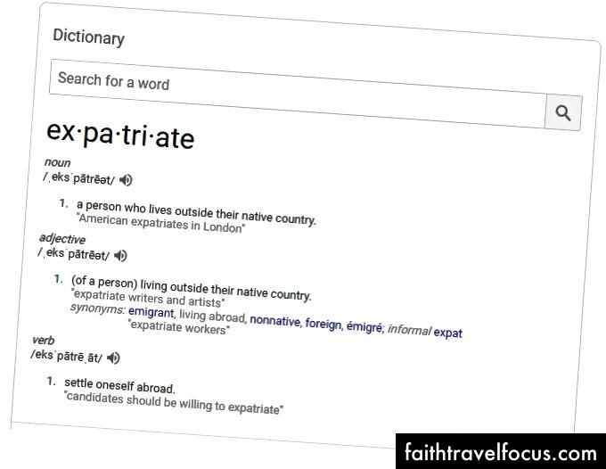Ảnh chụp màn hình: Từ điển Google (?)