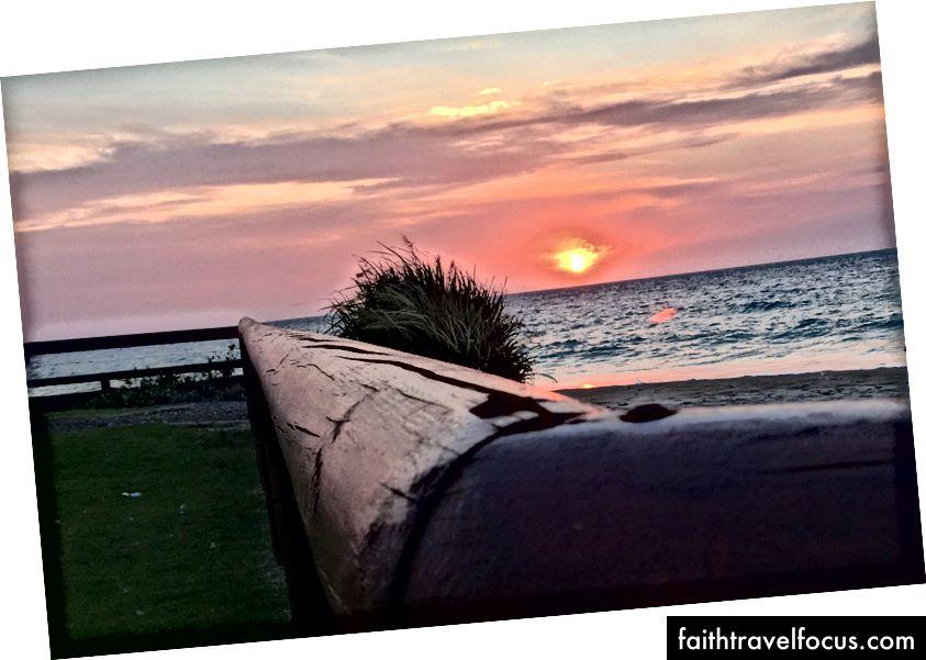 Západ slnka na ostrove Moreton, Austrália Foto: Donna Kos
