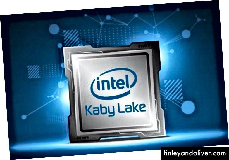 Offisielt bilde av Intel kaby lake CPU