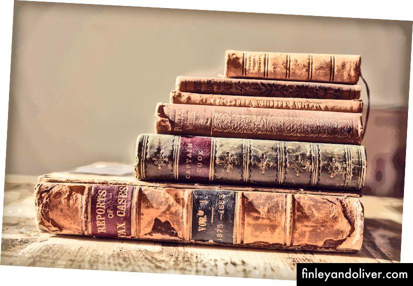 Een bos boeken van Unsplash
