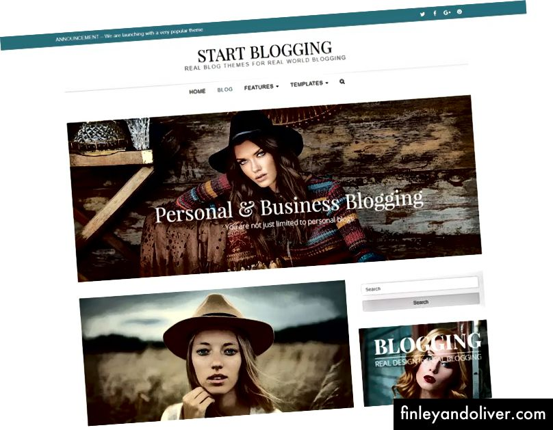 Enkle WordPress blogging temaer 2018