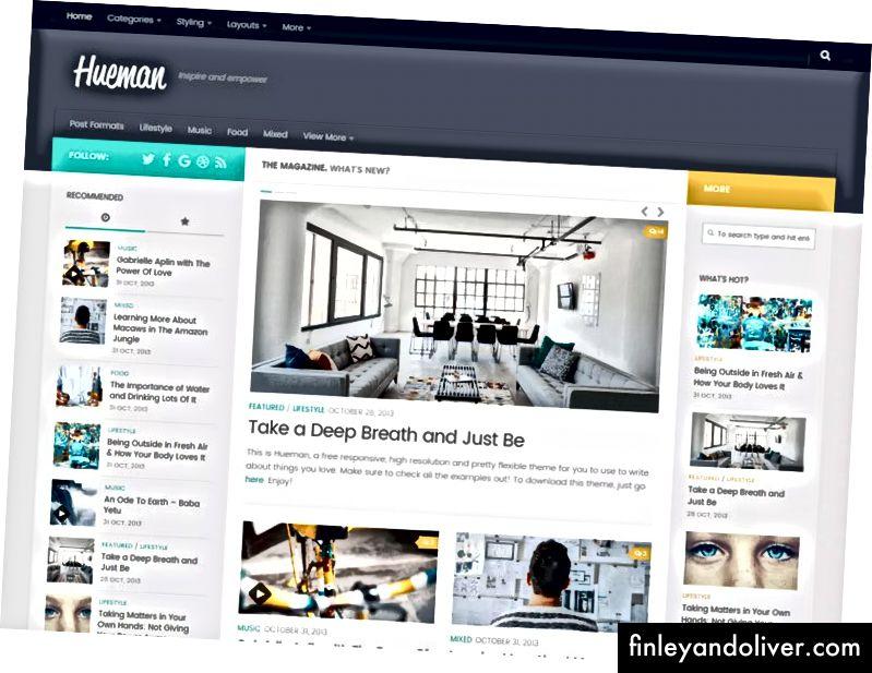 Populairste WordPress Blog-thema's
