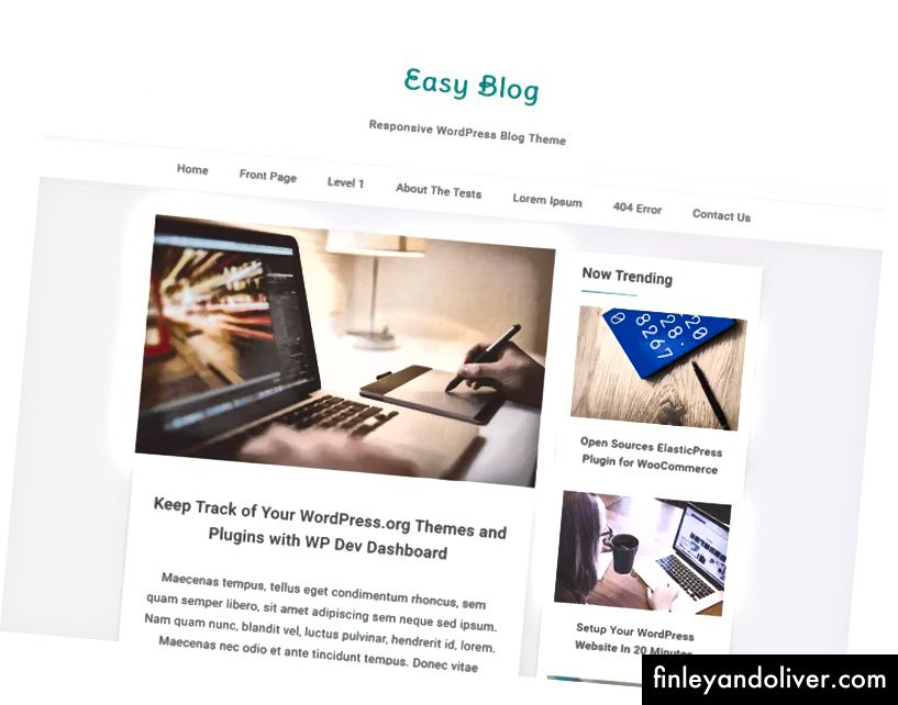 Responsive WordPress Gratis blogging-temaer