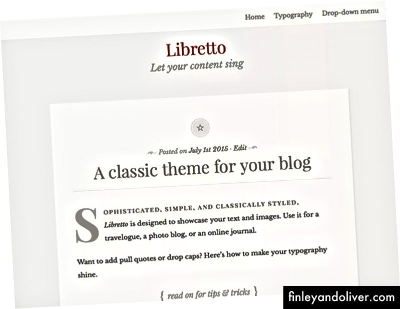Gratis blogging WordPress-temaer