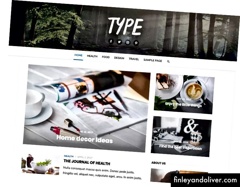Professionelt WordPress Blog Theme