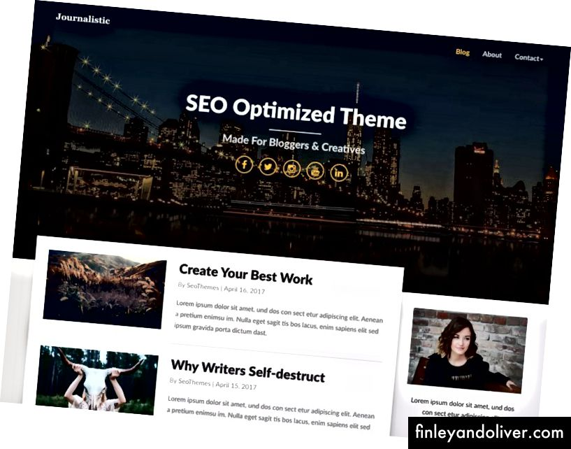 Beste WordPress-blogthema's