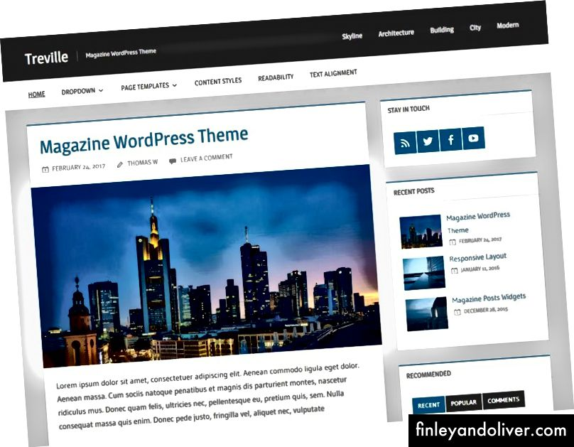 Gratis WordPress-blogg-temaer for forfattere