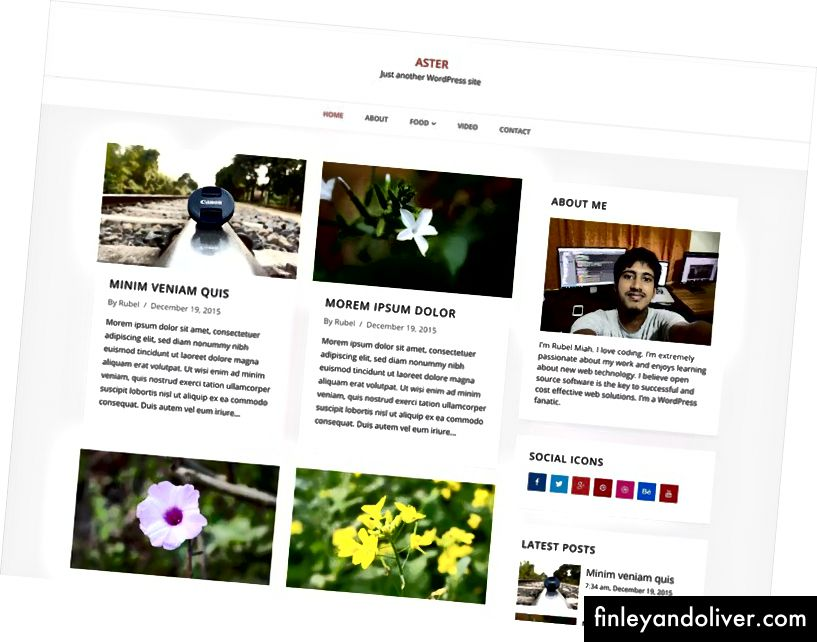 Moderne WordPress Blog-tema